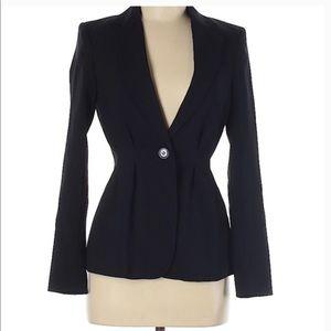 H&M Black Form Flattering Cinched Waist Blazer NWT